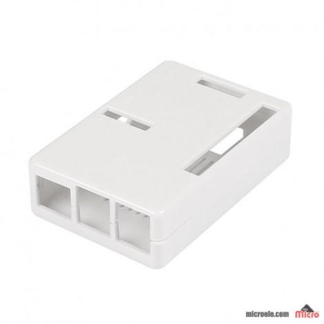 کیس پلاستیکی رزبری پای 2 - شیشه ای - سفید - مشکی