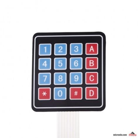 کی پد مسطح 4x4 - قرمز و آبی