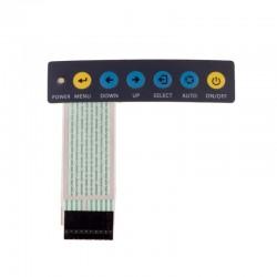 کی پد مسطح 1x6 با چاپ کلیدهای Menu و LED - فلت