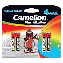 باتری نیم قلمی پلاس آلکالاین کملیون بسته 4 تایی با سرکلیدی - BP4+KC