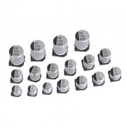خازن COTRONIC 10uF 25V 4x5 AL