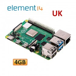 رزبری پای 4 Raspberry Pi4 B 4GB element14-UK