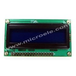 LCD 2*16  فشرده آبی متنی-کاراکتری