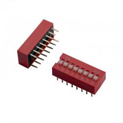 دیپ سوئیچ 8 تایی قرمز